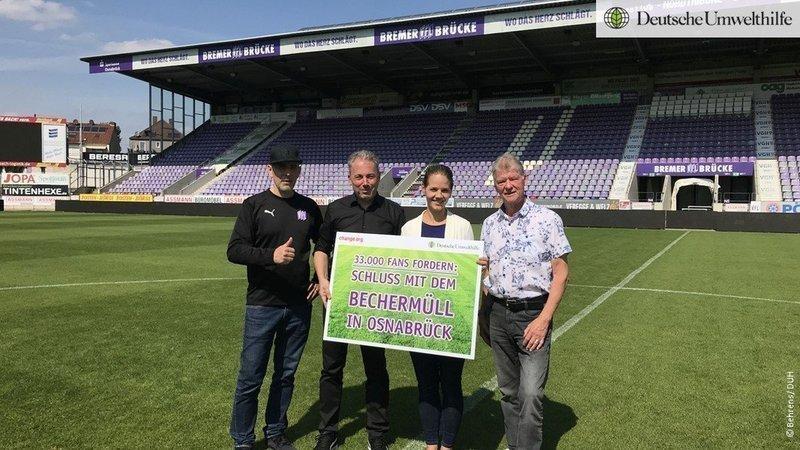 Mehrweg-Kämpfer - Fredy Engel, Jürgen Wehlend - VFL Geschäftsführer , Barbara Metz - Stellvertretende Bundesgeschäftsführerin DUH, Freddy Fenkes - VFL Präsidium