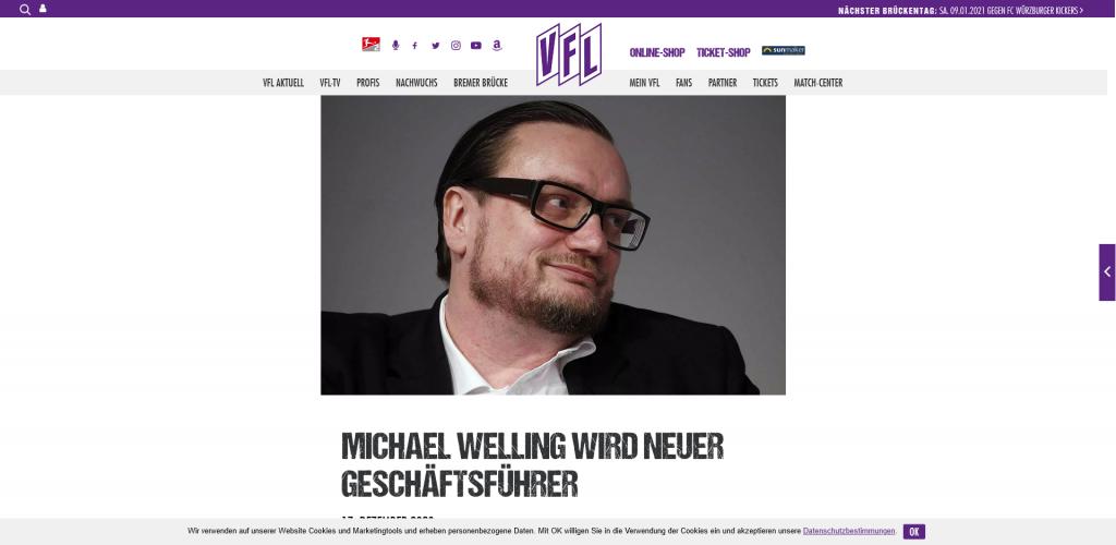 Neuer Geschäftsführer Dr. Michael Welling beim VfL Osnabrück macht Hoffnung